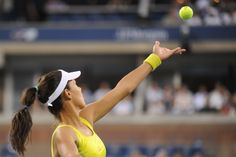 Ana Ivanovic (SRB)[12] faces off against Sloane Stephens (USA) in the third round of the US Open. - Rob Loud/USTA