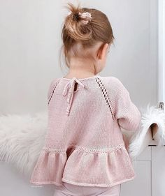Knitting For Kids, Free Knitting, Baby Knitting, Baby Girl Fashion, Crochet Yarn, Baby Dress, Knitwear, My Style, Pattern