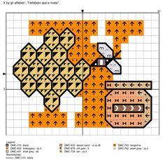 alfabeto ape e miele: X