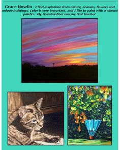 Grace Nowlin's acrylic paintings featured 6-9 p.m., May 20, at Images Art Gallery in Downtown Overland Park, Kansas.