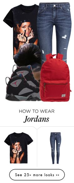 """""""10:32"""" by trvppunzell on Polyvore featuring H&M and Herschel"""