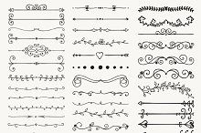 60% OFF! Hand Drawn Dividers, Arrows