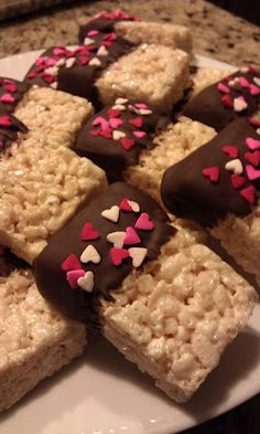 I saw that going differently in my mind Blog...: Valentine Rice Crispy Treats