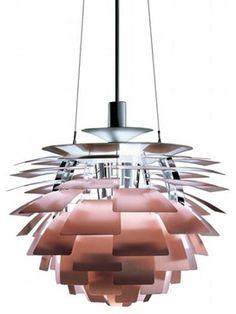 Artichoke Lamp in Copper modern pendant lighting