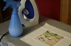 Make your own Spray Starch for ironing: 12oz water, 3/4 tbs. cornstarch & 3 drops lavender essential oil. Mix well & pour into a spray bottle. *Shake well before each use.