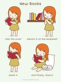 Mein Herz schlägt nur der Bücher Willen.