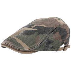 RaOn N11 New Vintage Feel Gatsby Army Fabric Camo Military Ivy Cap Cabbie  Newsboy Hat Fashion 08bd97ad7c