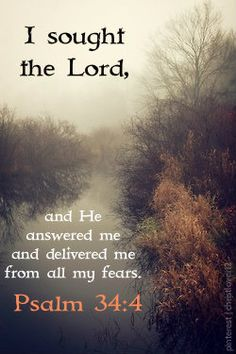 It's amazing how God works.  It seems as if so many are consumed with fear, but when one cries out to The Lord, he will intervene.  It's never in ways that we expect either.   You don't have to live in fear, worry, or discontentment.  God truly works in lives today just as he did back then.   LET him!!