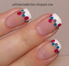 fun french manicure