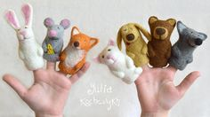 Finger Puppets Educational Toy Finger Theatre Animal Puppet, Fairy Tale Puppet, Toy Theater Finger Puppet Felt Finger Puppets felt puppet USD 44.00