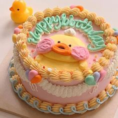 Pretty Birthday Cakes, Pretty Cakes, Fancy Cakes, Mini Cakes, Korean Cake, Pastel Cakes, Frog Cakes, Cute Baking, Cute Desserts
