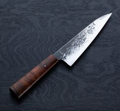Desert Ironwood Chef 170mm, a custom chef knife handmade by Don Carlos Andrade.
