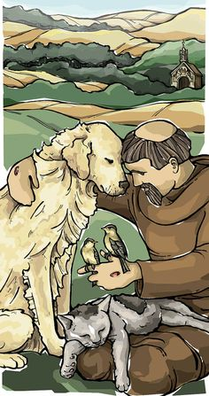St Francis of Assisi Prayer Card - hey did you know that animals have a soul too?