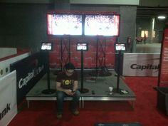 screen test at CAPs Fan Zone.