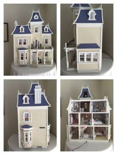 dollhouse when purchased 2 - Deborah's Shabby Chic Beacon Hill House - Gallery - The Greenleaf Miniature Community