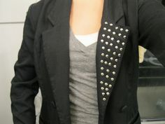 my thrifty chic: Bling'd out blazer (DIY style)