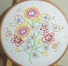 Hand Embroidery PDF Fresh Florals - via @Craftsy