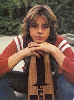 "70s- Skateboarder  Actor Leif Garrett while filming the movie ""Skateboard"""