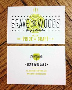 Brave Business Cards by Brad Woodard, via Behance