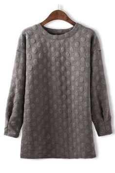 Gris // Embossed Dots   Pullover