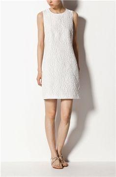 Vestido Jaquard de color blanco