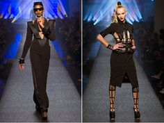 Jean Paul Gaultier SS 2013  inspiration from 1980′s MTV, plus a dash of 70′s glitter rock / Grace Jones and Madonna
