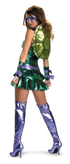 Teenage Mutant Ninja Turtles Sexy Donatello Adult Costume #teenage mutant ninja costumes #tnmt costumes