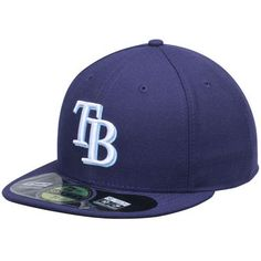 36d4353144398 Men s Tampa Bay Rays New Era Navy AC On-Field 59FIFTY Game Performance Fitted  Hat