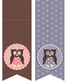 Free owl party printables