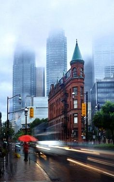 """Gooderham Building (commonly referred to as the """"Flatiron Building"""") is a historic landmark of Toronto, Ontario, Canada located at 49 Wellington Street East Places Around The World, Oh The Places You'll Go, Places To Travel, Places To Visit, Around The Worlds, Ottawa, Vancouver, Beautiful World, Beautiful Places"""
