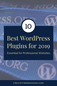 The 10 Best WordPress Plugins 2019 Essential for Professional Websites. We've listed our favorite WordPress plugins that we use on our customer websites. Wordpress Css, Wordpress Gallery, Wordpress For Beginners, Web Design Quotes, Website Security, Website Maintenance, Professional Website, Business Website, Website Template