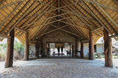 A South African Gives Traditional Thatched Roofs a Modern Flair Thatched House, Thatched Roof, Peaceful Home, Natural Structures, Bridge Design, Roof Architecture, Life Is An Adventure, Tiny House, Beautiful Homes