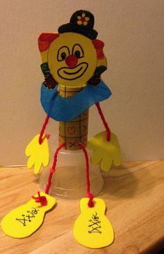 Toilet Paper Roll Clown Kids Craft