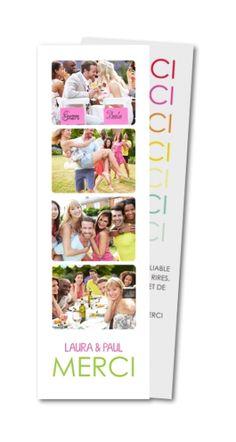 carte de remerciement mariage photobooth mtr 141 - Remerciement Mariage Personne Absente