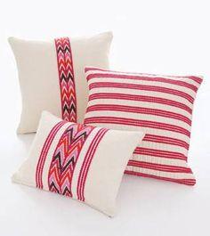 Cotton brocade pillows from Guatemala (Mercado Global)