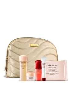Gift with purchase of any two Shiseido skin care products!