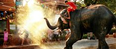 AYUTTAYA, THAILAND - APRIL 15 Songkran Festival is celebrated in a traditional New Year