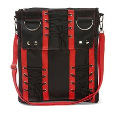 Red Corset Sling Bag Purse Goth Vamp Rockabilly Punk Deathrock Anime Cosplay ** You can find out more details at the link of the image.