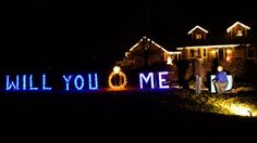 Christmas lights marriage proposal