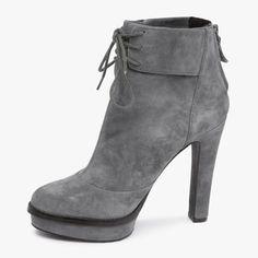 Elizabeth & James Mercy Grey Suede Ankle Boot