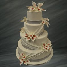 draped cake... just change the flowers