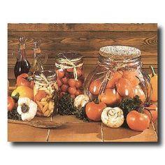 Olive Oil Tomatoes Mason Jars And Mushrooms Kitchen Picture Art Print by Art Prints Inc, http://www.amazon.com/gp/product/B0042FYK9G/ref=cm_sw_r_pi_alp_8hZ9qb0X204E0