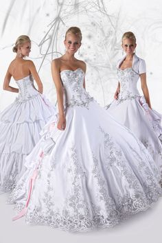 New Arrival Quinceanera Dresses A Line Sweetheart Floor Length Embroidery  With Rhinestone Beading 6c497c823949