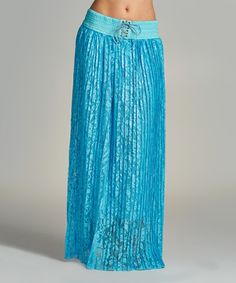 Love this Aqua Paisley Maxi Skirt - Plus on #zulily! #zulilyfinds
