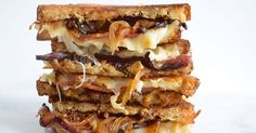 Bacon and Onion Grilled Cheese!!! - These are CRAZY AWESOME!!