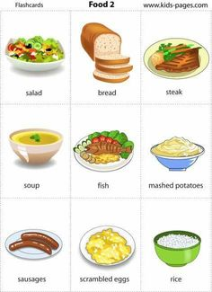 Kids Pages - Food 2 presentation Kids English, English Tips, English Food, English Study, English Class, English Lessons, Learn English, English House, English Language Learning