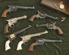Beautiful collection of revolvers