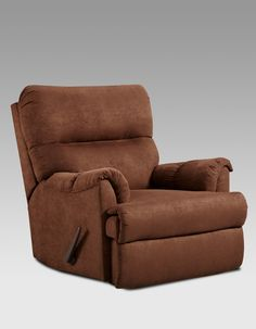 Affordable 2155 Aruba Chocolate Rocker Recliner