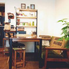 DIY棚/カリモク60/植物/部屋全体のインテリア実例 - 2014-09-18 08:13:25 | RoomClip(ルームクリップ)