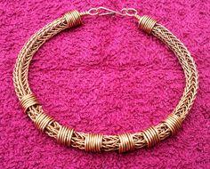 Mens Copper Viking Knit Bracelet - Copper on Copper